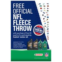 Castrol Official NFL Fleece Throw Promotion