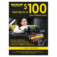 "Monroe ""Get Up to a $100 Visa Prepaid Card"" Offer"