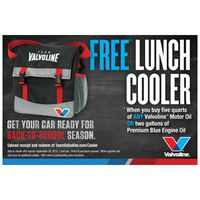 Valvoline Lunch Cooler Promotion