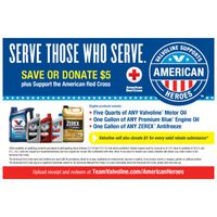 Valvoline American Heroes Rebate Offer
