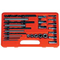 Astro Pneumatic - 9447 25-Piece Screw Extractor / Drill and Guide Set