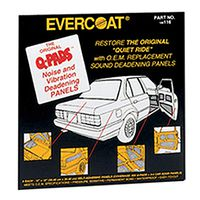 Fibreglass Evercoat - 116 Q-Pads Sound & Vibration Deadening Panel 6pk
