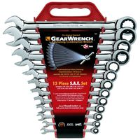 KD Tools - 9312 13-Piece SAE Master Combination GearWrench Set