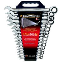 KD Tools - 9416 16-Piece Metric Master Combination GearWrench Set