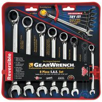 KD Tools - 9533 8-Piece SAE Reversible Combination GearWrench Set