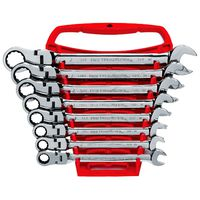 KD Tools - 9701 8-Piece SAE Flex Head Combination GearWrench Set