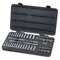 KD Tools - 80550 57 Piece, GearWrench® 6 Point, Fractional /Metric Master Socket Set