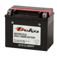 Deka - YTX12BSFP 12 Volt Standard AGM Power Sports Battery